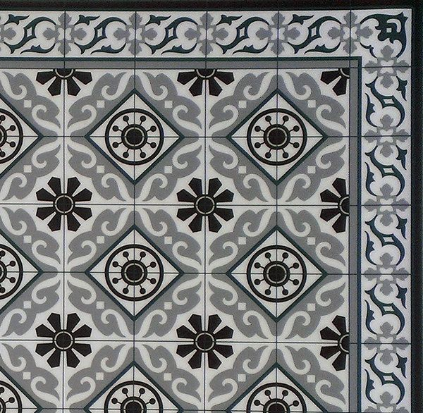 Kitchen Vinyl Mat Tiles Pattern Decorative Linoleum Rug