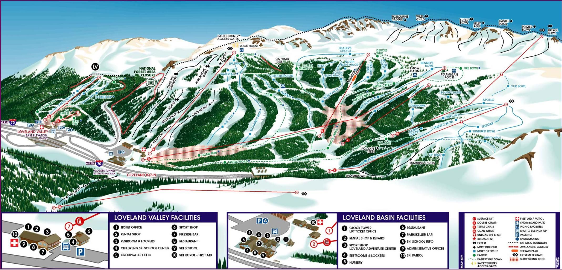 Loveland Ski Area Httpmskicolistinglovelandskiarea - Map of colorado ski resorts and cities