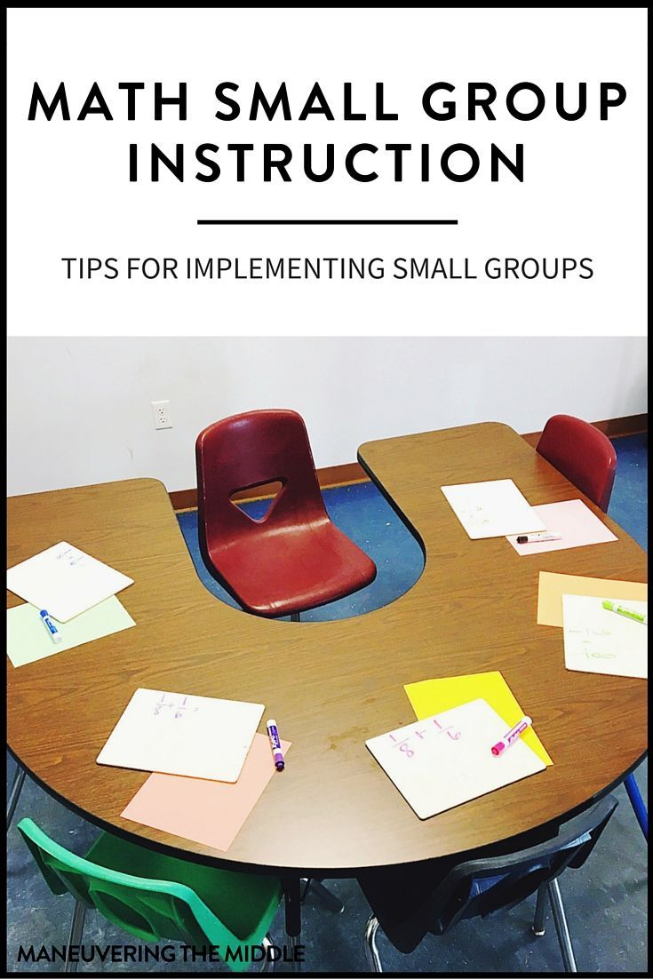 Implementing Math Small Groups In Middle School Math