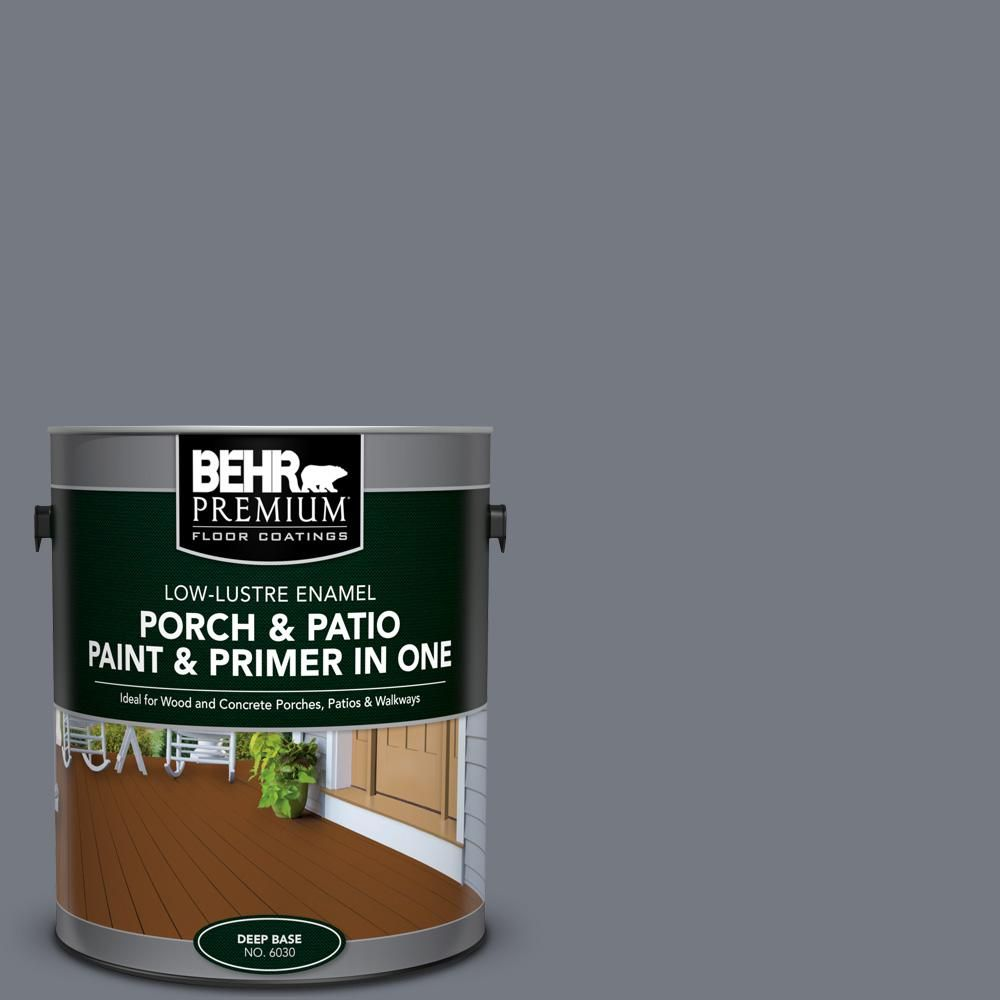 BEHR Premium 1 Gal. #N510 5 Liquid Mercury Color Low Lustre  Interior/Exterior Paint And Primer In One Porch And Patio Floor Paint