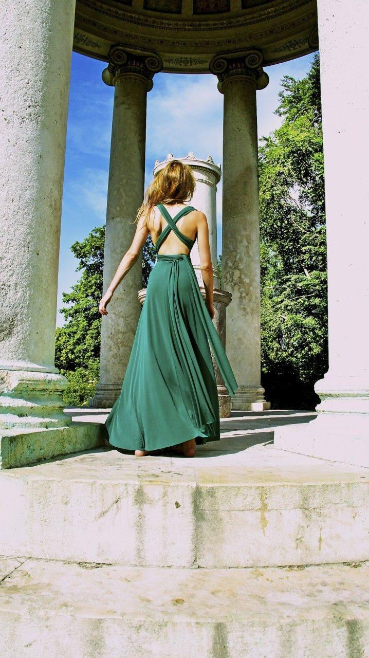 evening wear - veronica bond münchen | abendkleid grün