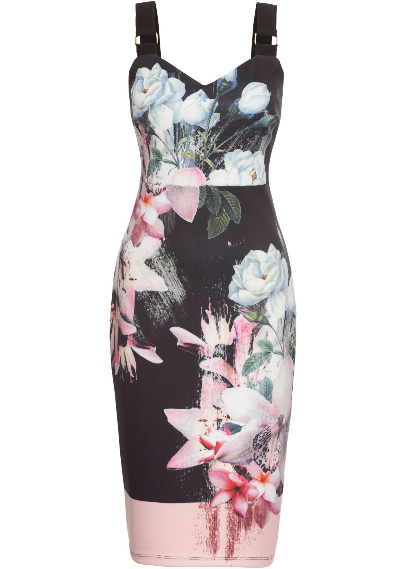 Kleid mit Träger | Blumenkleid, Lila und Rosa