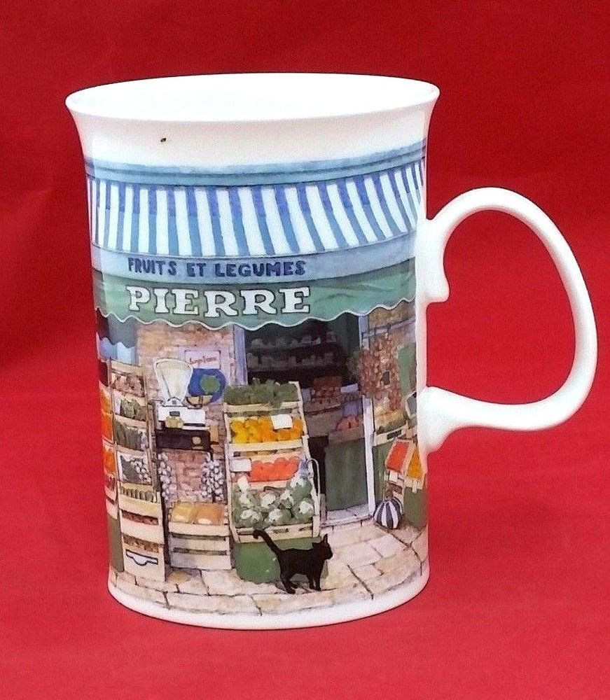Dunoon fine bone china mug made in England an coin de la rue by Richard Partis