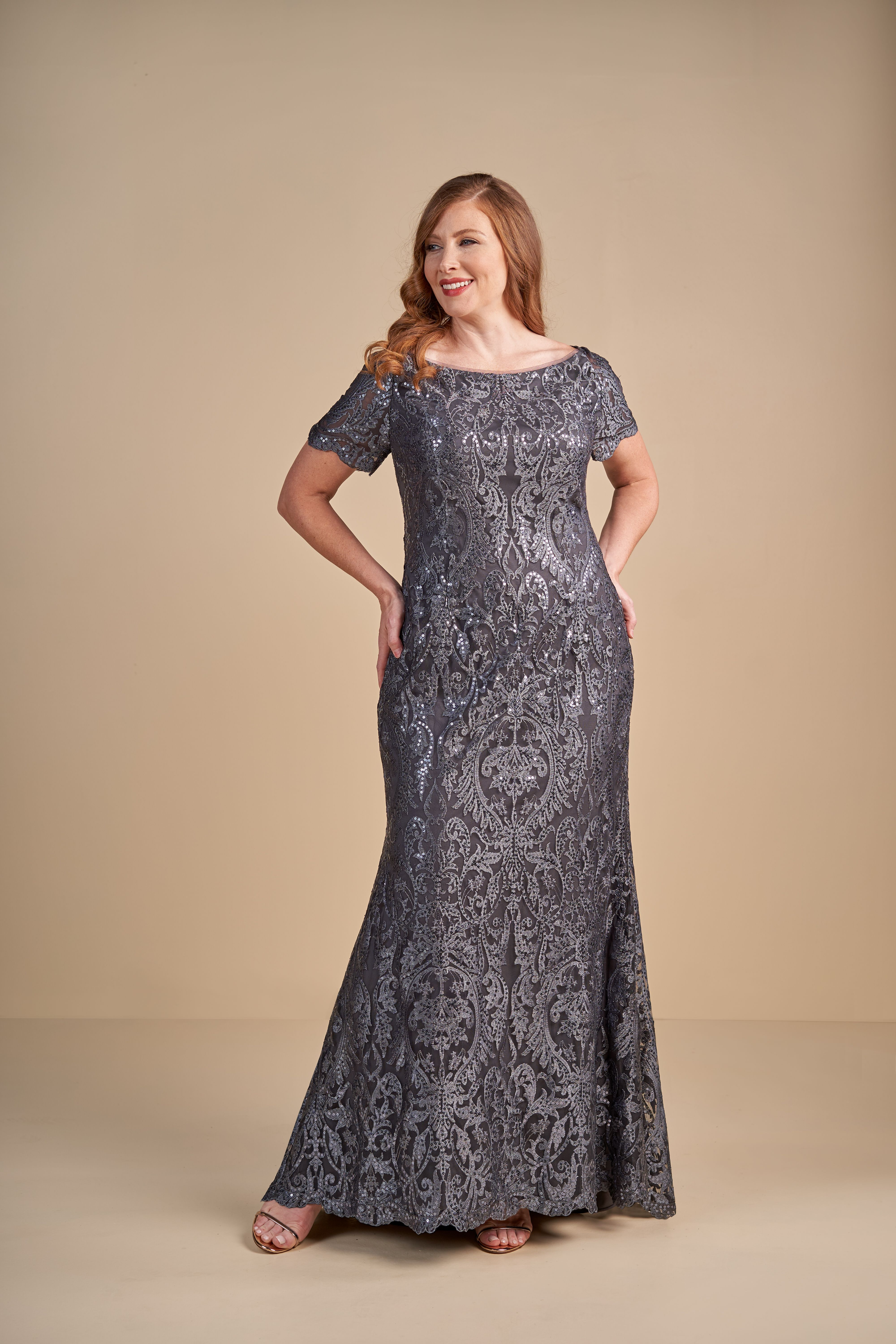 Plus Size Jade Couture Sophisticated Mother Of The Bride Dress