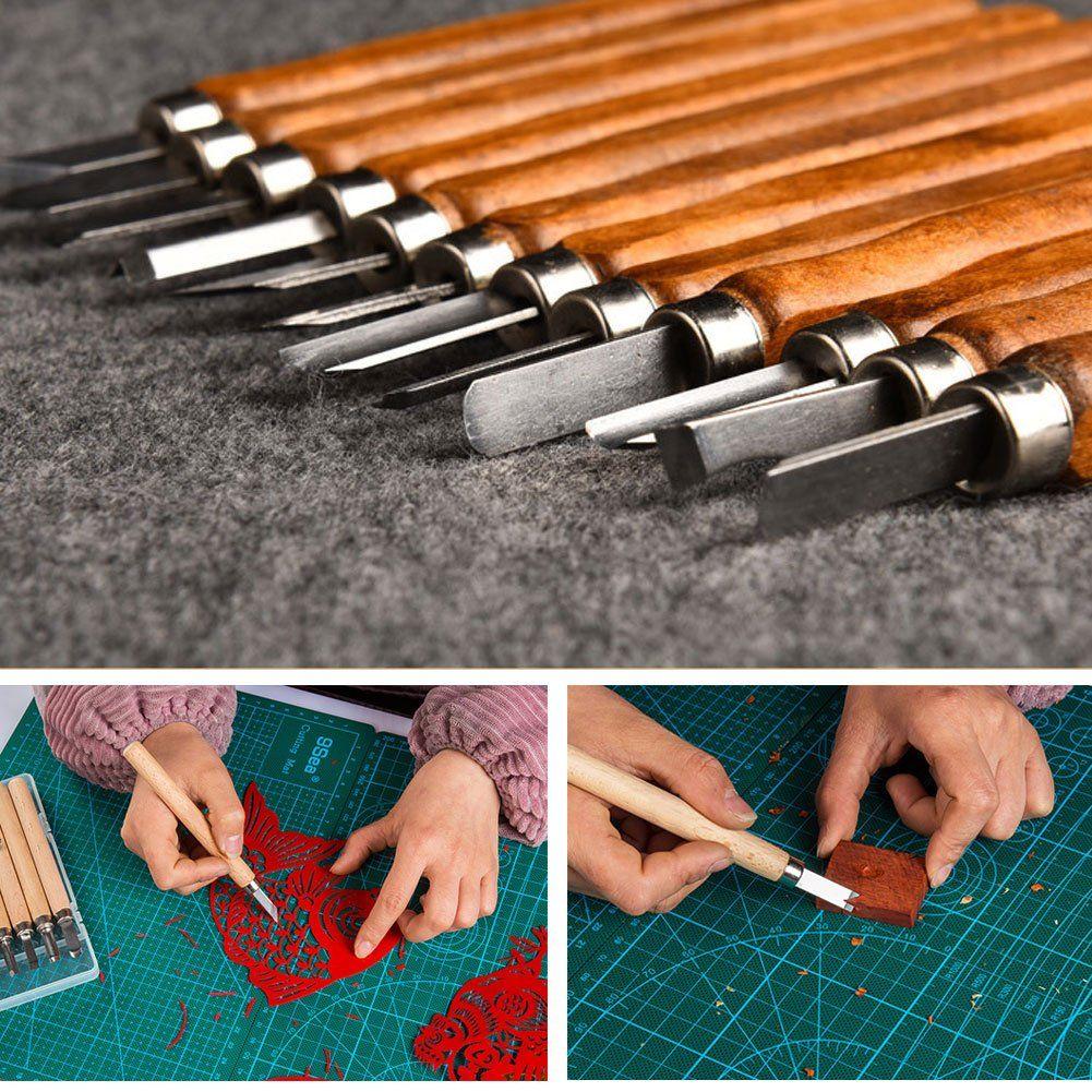 Idabay pcs set sk carbon steel wax and wood carving tools