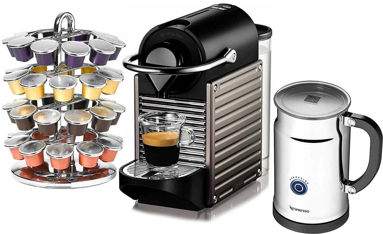 Nespresso Pixie C60 Electric Titan Espresso Machine with