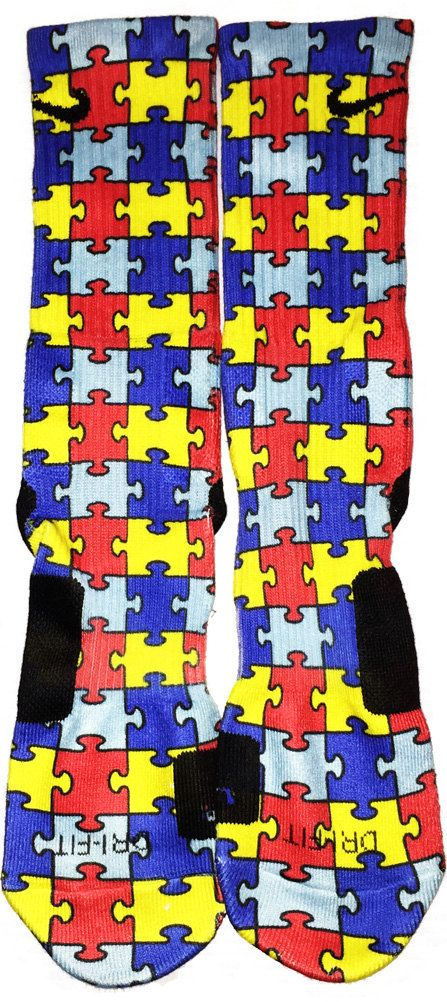 Custom Autism Awareness nike elite crew by TouchOfLoveProducts