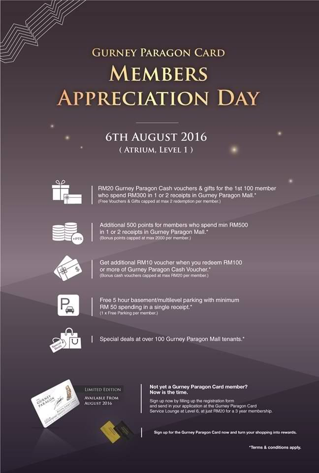 Gurney Paragon Mall Members Appreciation Day In Malaysia Appreciation Paragon Day