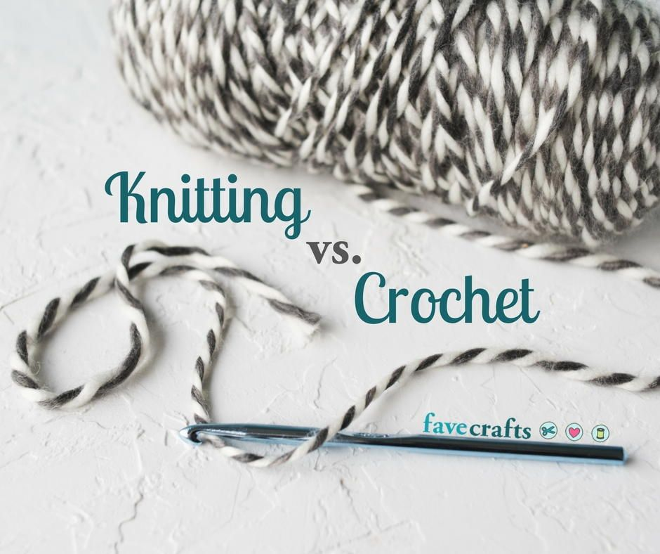 Knitting vs. Crochet: What\'s the Difference?