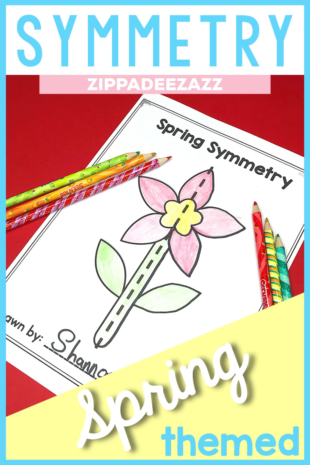 Spring Symmetry Drawing Activity For Art And Math