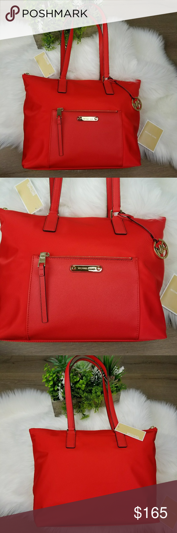 9e9f6b76ac4f NWT Michael Kors Ariana Large Red Tote (INV65) NEW WITH TAGS  Michael Kors