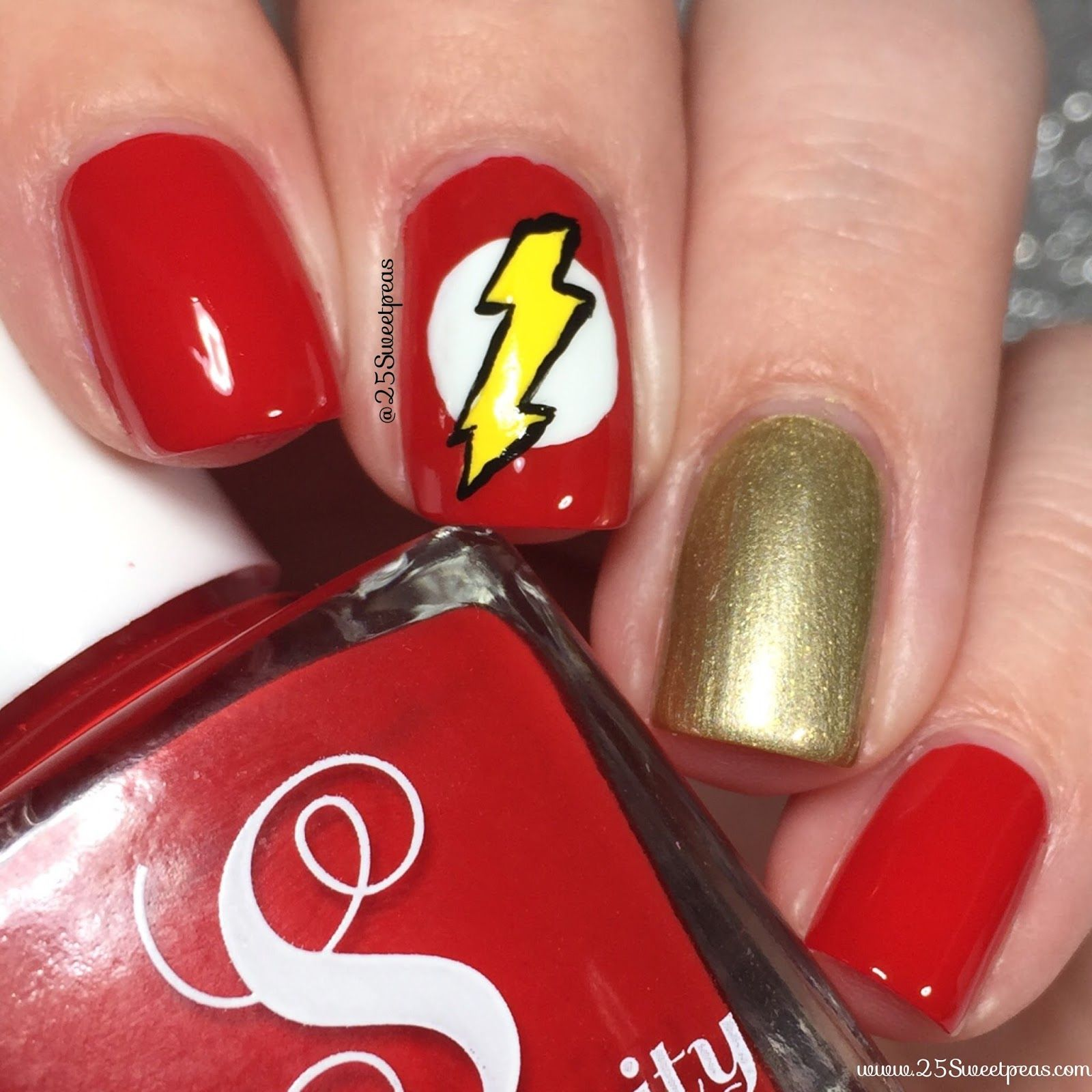 The Flash | Art base, Beauty nails and Makeup