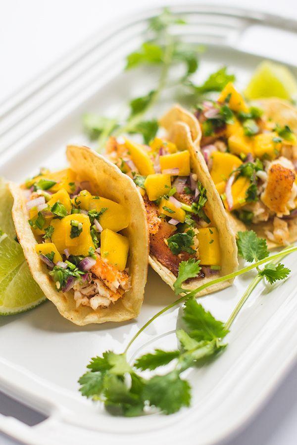 Fish tacos with mango salsa recipe blackened fish for Blackened fish tacos recipe