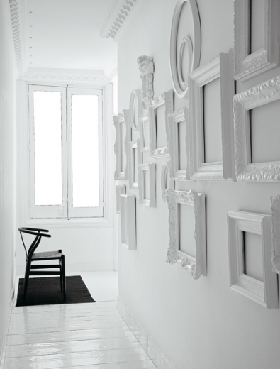 simply grove - empty white frames | Decorating with Empty Frames ...