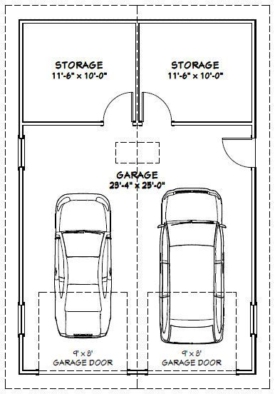 24x36 2 Car Garage with storage space  but do single garage door and single. 24x36 2 Car Garage with storage space  but do single garage door