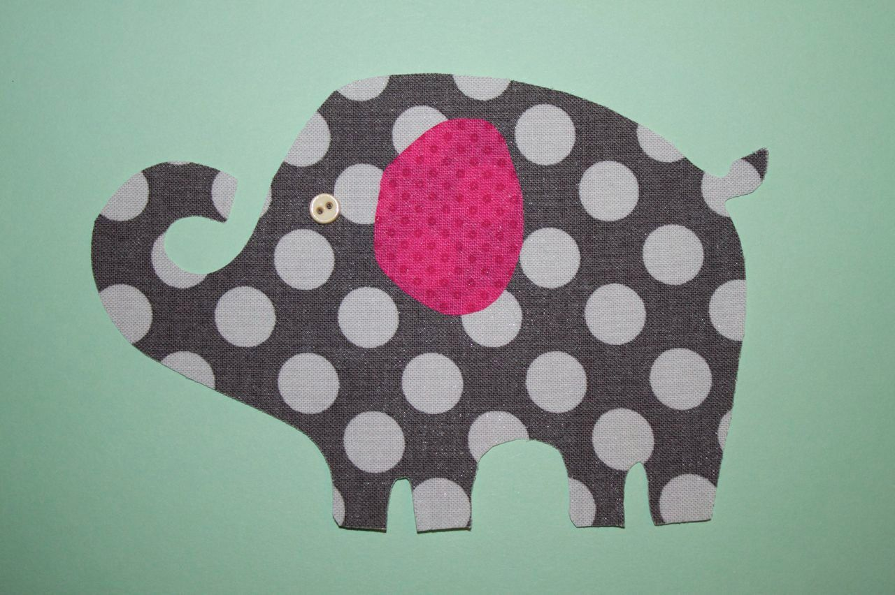 Fabric Applique TEMPLATE Elephant 1. | elephants in memory of mom ...