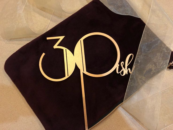 30 ish cake topper gatsby style gold silver diy