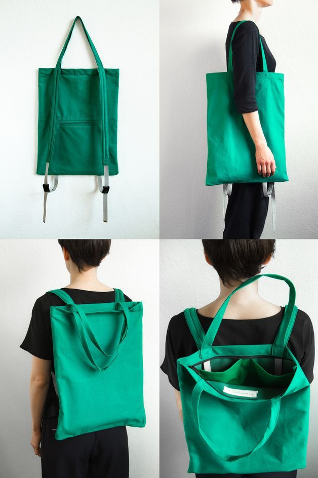 ¡mochila que funciona como una bolsa de asas!