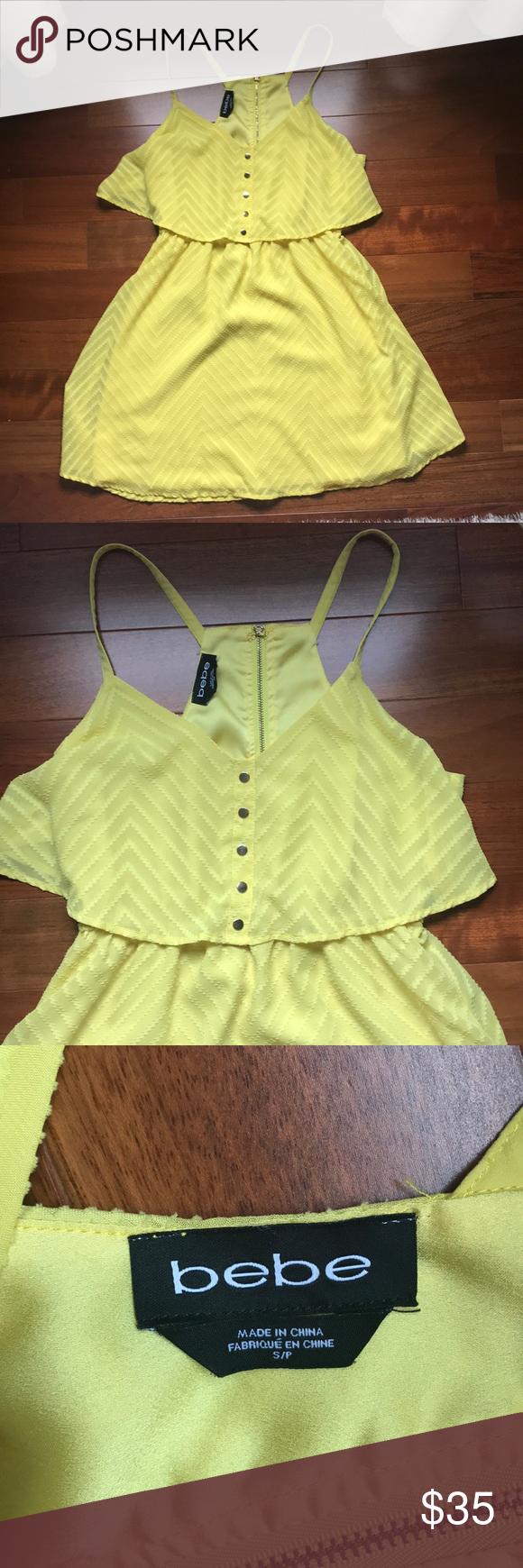 Bebe yellow summer dress my posh picks pinterest yellow summer