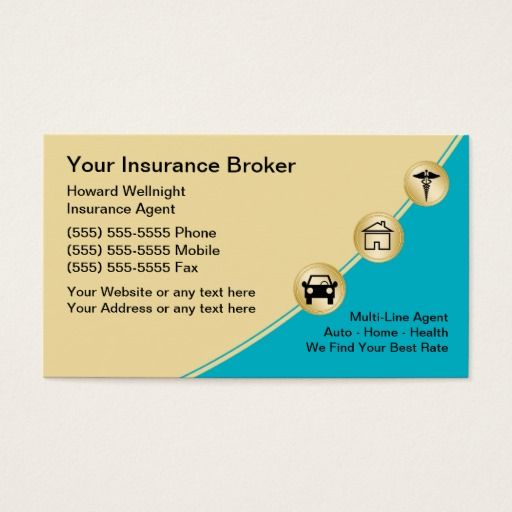 Commercial Insurance Brokers >> Insurance Broker Business Cards Zazzle Com Auto Agent Business