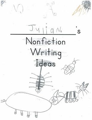 Writing about non-fiction in kindergarten. A look