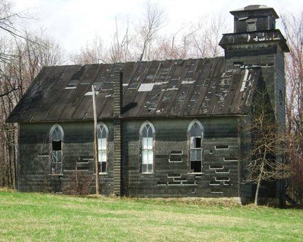 old weathered country church
