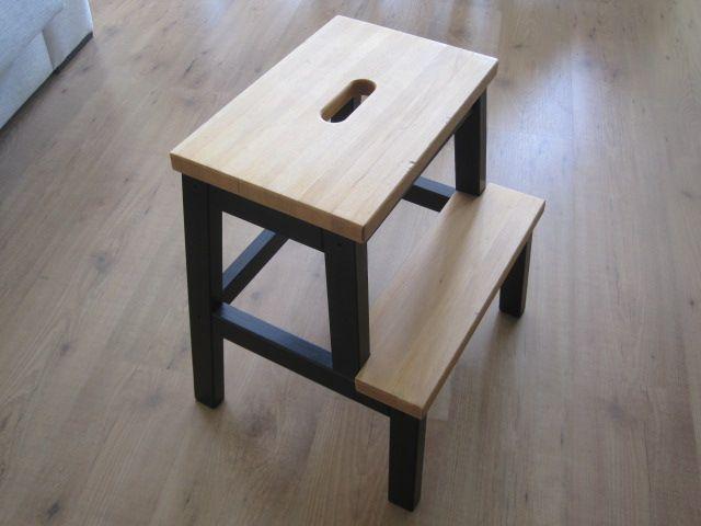 Un nuevo aire a un taburete escalón de Ikea...