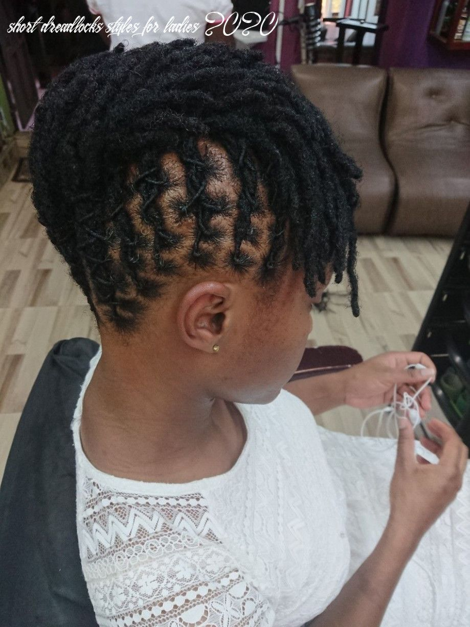 10 Short Dreadlocks Styles For Ladies 2020 In 2020 Short Dreadlocks Styles Dreads Styles Dreadlock Hairstyles Black