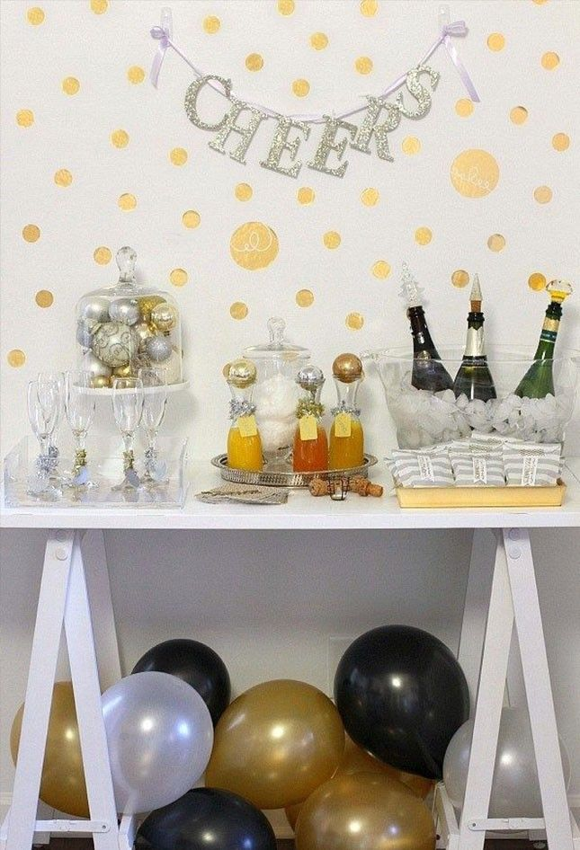 12 Ways to Take Your NYE Champagne Bar to the Next Level via Brit + Co