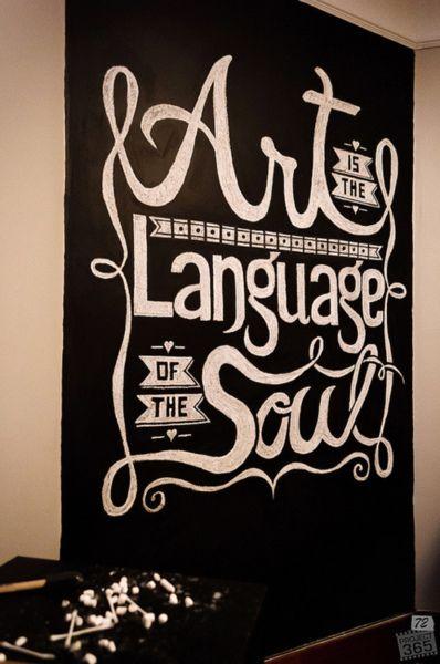el arte es el lenguaje del alma