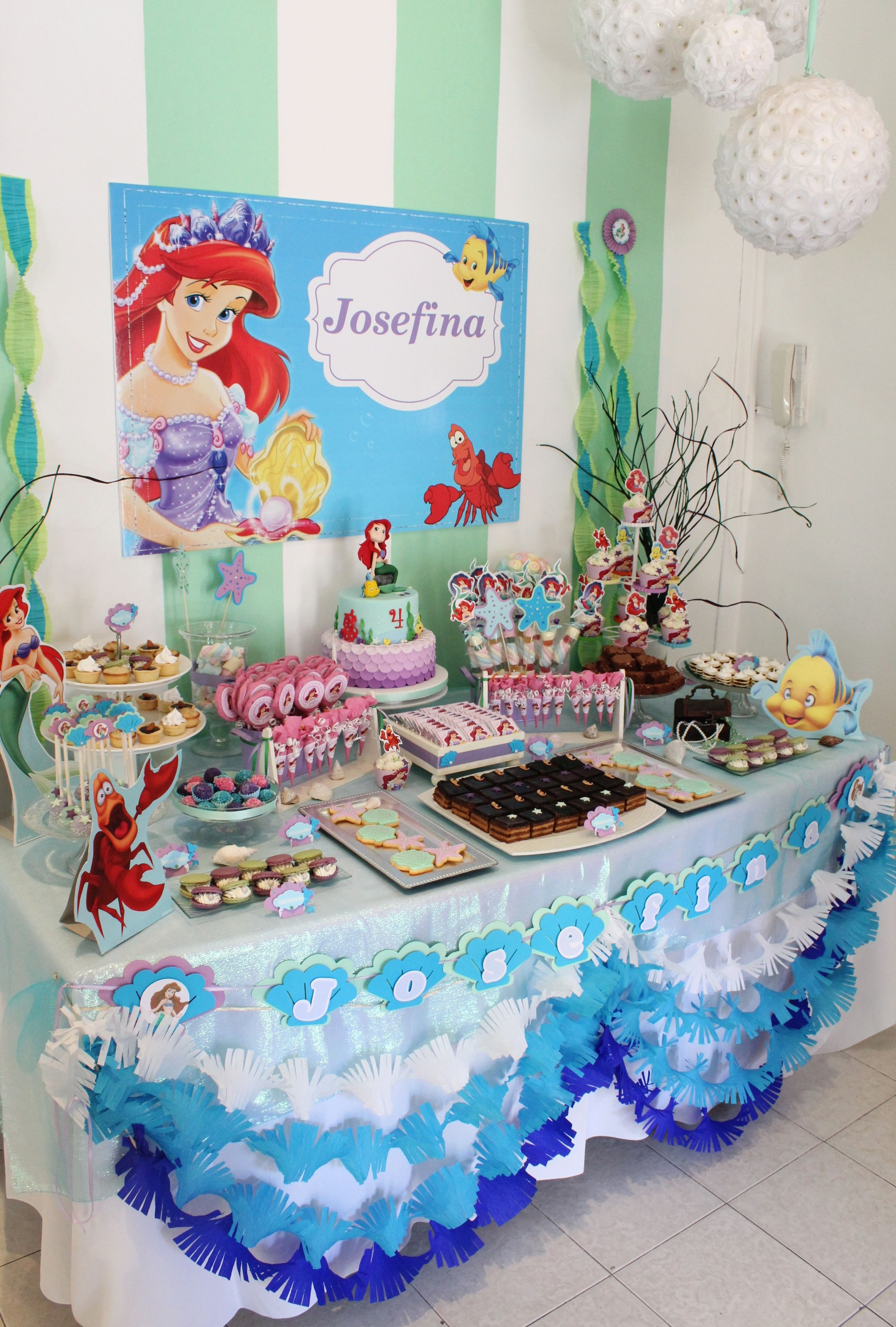 Little Mermaid Sweet Table by Violeta Glace | Keeks\'s Bday ideas ...