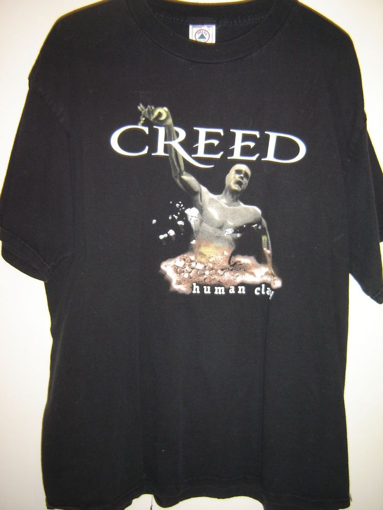 VINTAGE CREED HUMAN CLAY TOUR CONCERT TOUR ROCK T-SHIRT SIZE L  8e5cfb3ac027