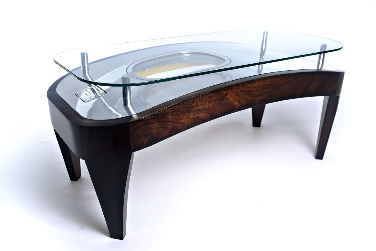 Luxury Bespoke Coffee Table Made From Airbus A320 Airplane