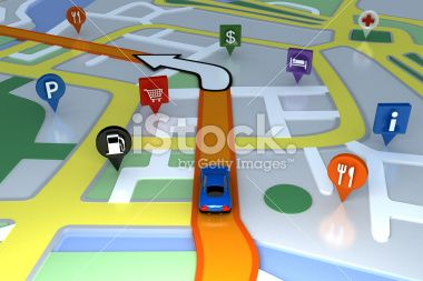 Inside GPS animation. Royalty Free Stock Photo