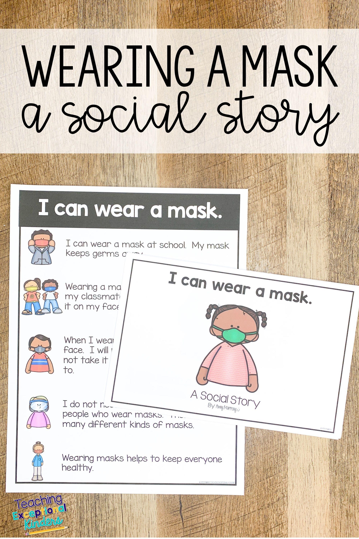 Wearing A Mask Social Story School Social Work Social Emotional Learning School Psychology