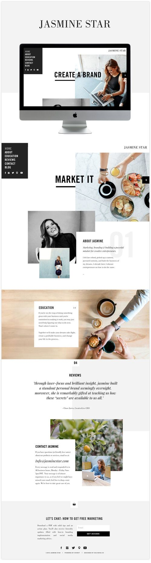 edgy website inspiration showit5 | Web design / ux ui | Pinterest ...