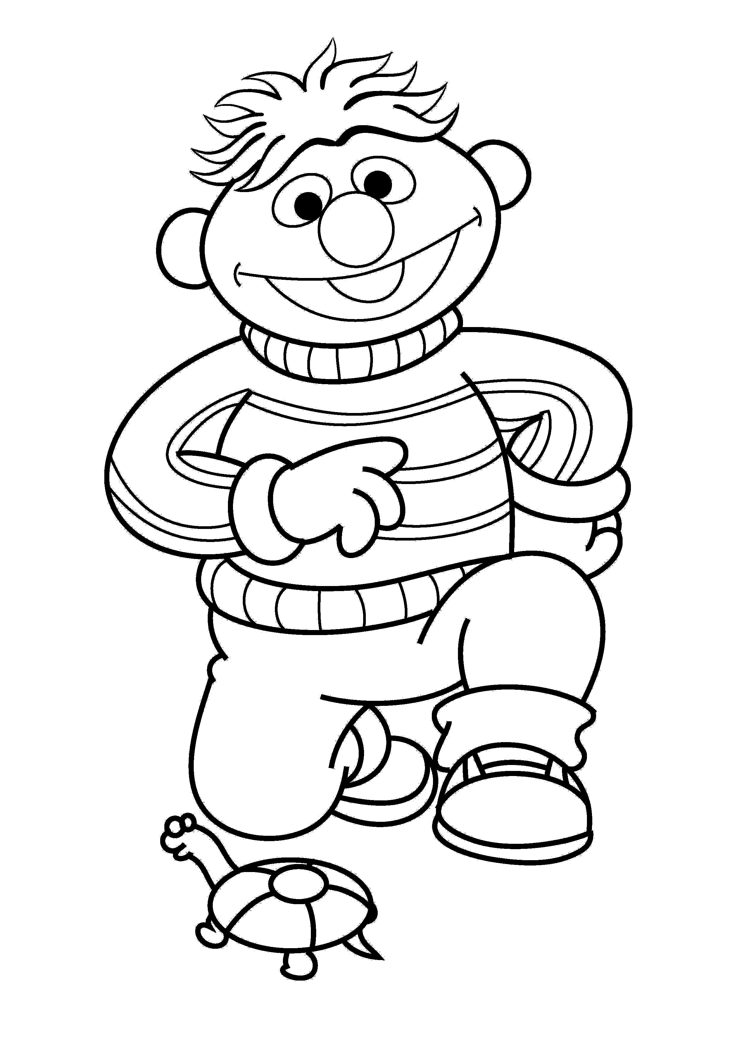Ernie And A Turtle Coloring Pages For Kids Gip Printable Sesame Street Coloring Pages For Sesame Street Coloring Pages Turtle Coloring Pages Coloring Pages