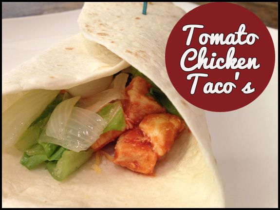 Tomato Chicken Tacos - SO YUMMY and easy!! From www.overthebigmoon.com!