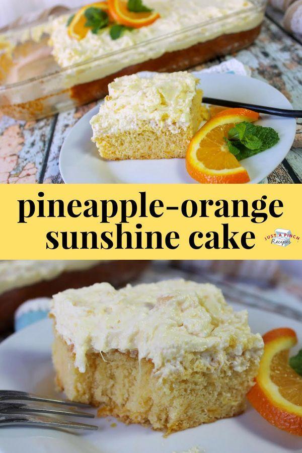 Pineapple Orange Sunshine Cake Recipe In 2019 Dessert Recipes