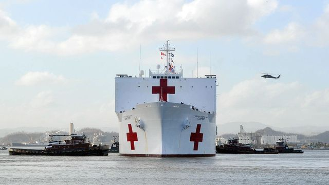 U S Navy Hospital Ship Comfort Arrives In Puerto Rico Natural Disasters Hospital Puerto Rico