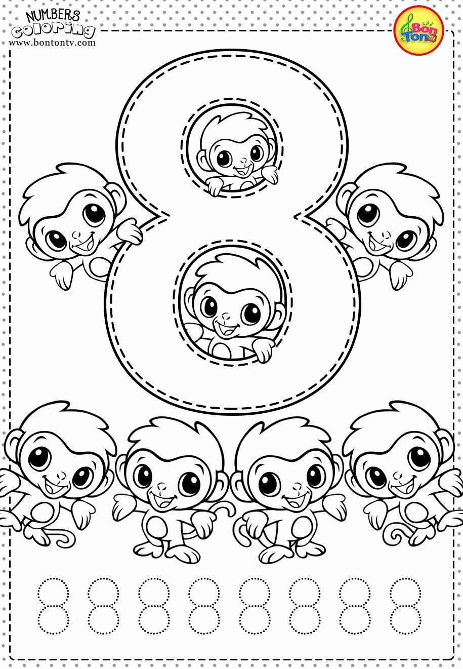 Fun Coloring Pages For Kindergarten New Number 8 Preschool