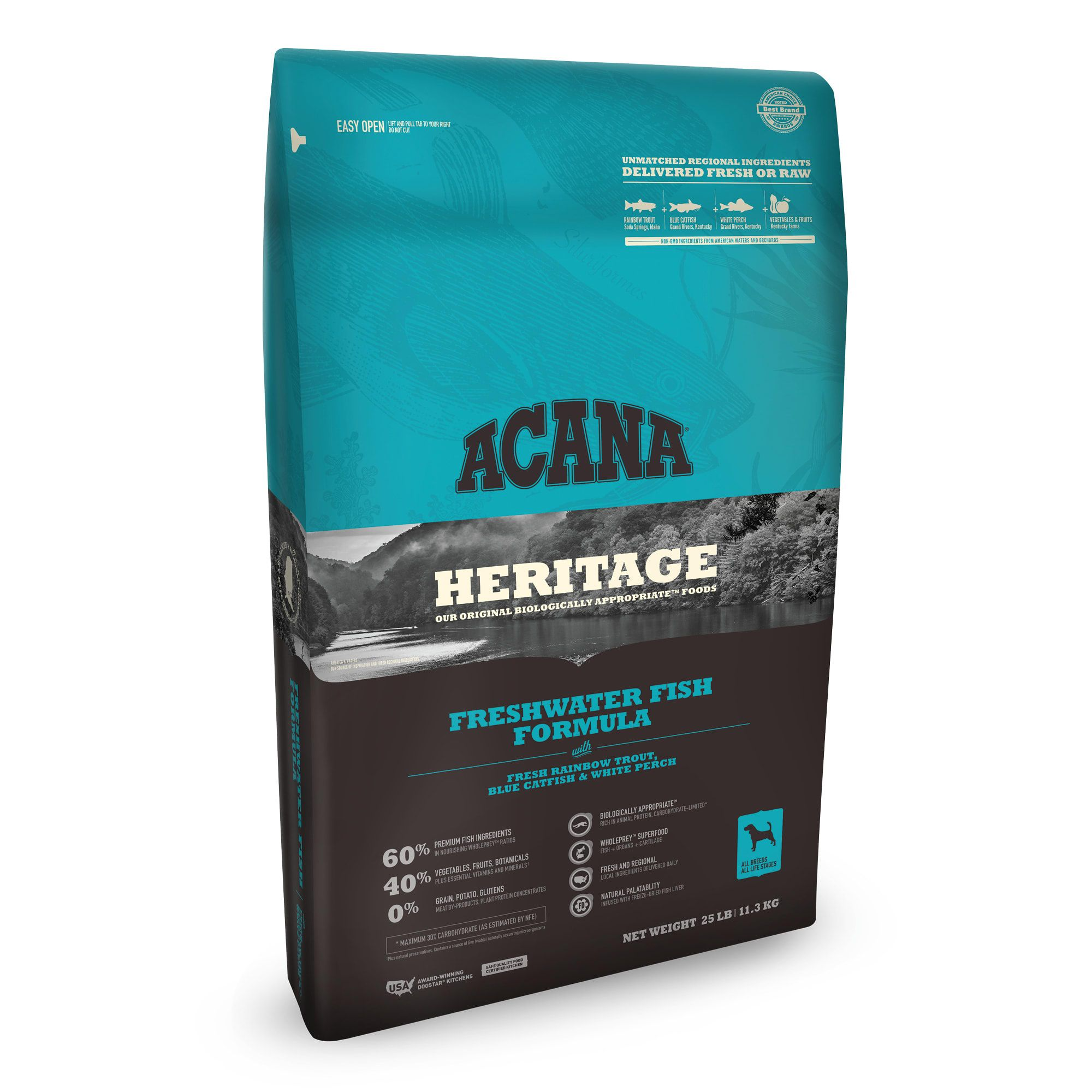 ACANA Freshwater Fish Dry Dog Food, 25 lbs. Petco in