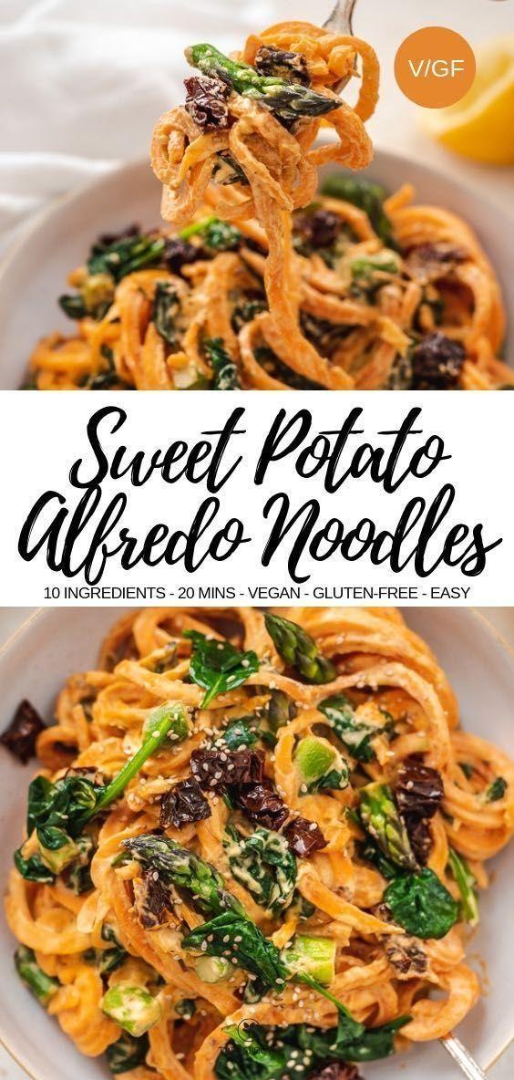 Sweet Potato Alfredo Noodles  - vegan stuff -