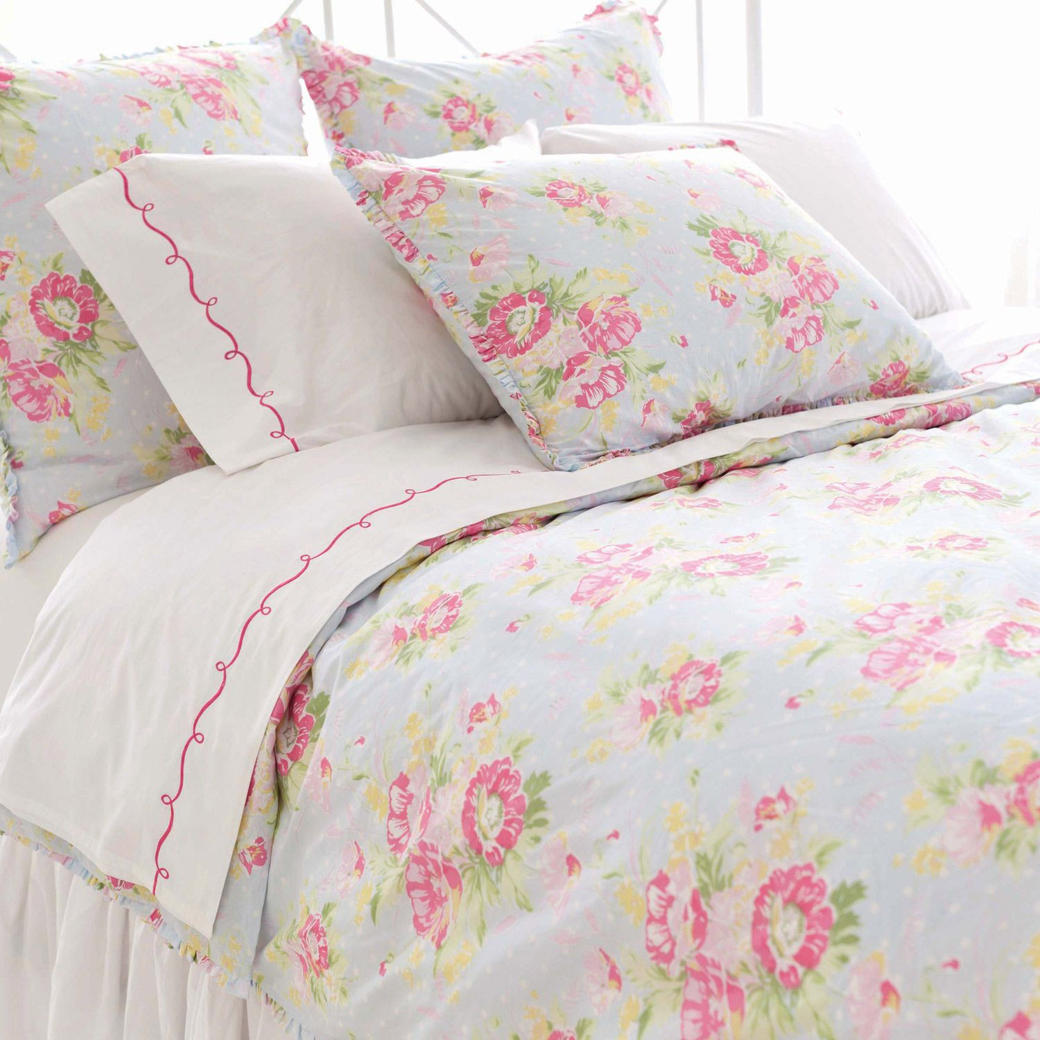 Pine Cone Hill Bella Blue Duvet Cover Sarah Chintomby