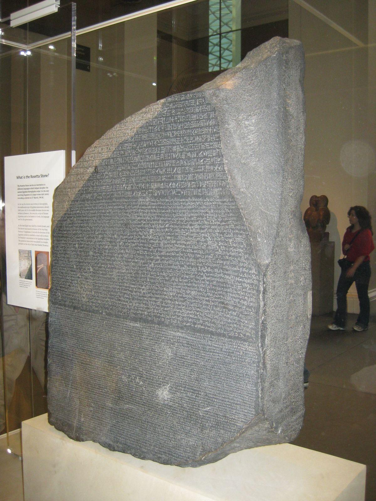 The Rosetta Stone has the same inscription written in three ...