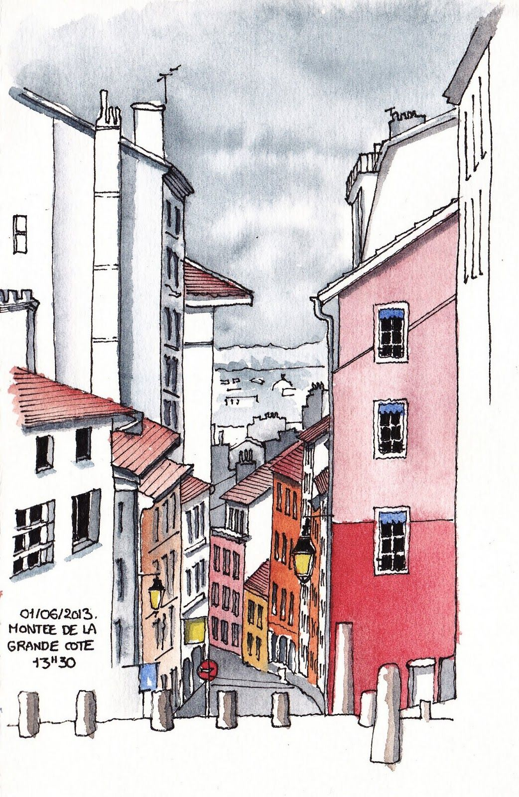 Urban Sketchers France Croquis Urbain Dessin Architecture De