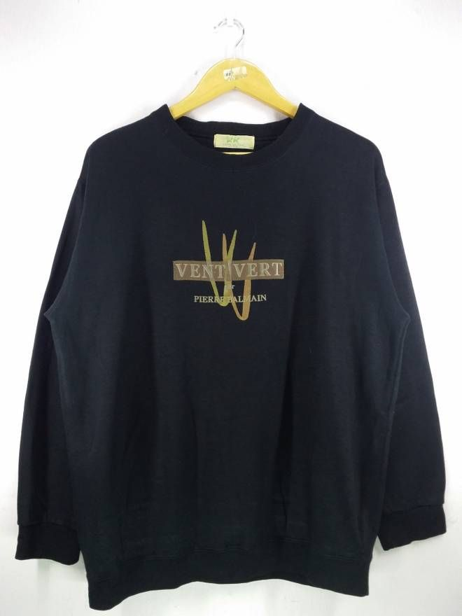 comfortable feel size 40 cheap prices Vent Vert Pierre Balmain Spell Out Embroidery Sweatshirt ...