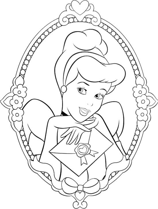 beautiful princess cinderella coloring page