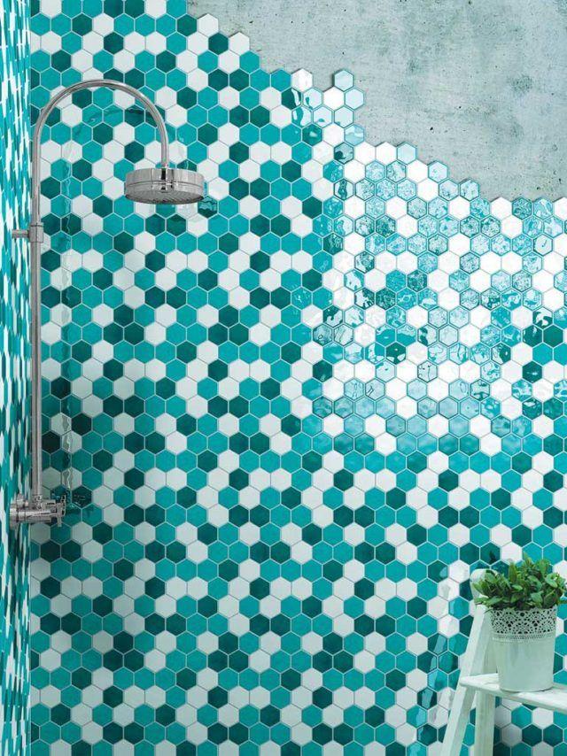 Piastrelle esagonali in casa idee e suggerimenti per la for Piastrelle bagno turchese