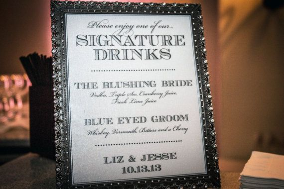 Signature drink 8x10 wedding sign customized by serenitynowstudio signature drink 8x10 wedding sign customized by serenitynowstudio 1500 junglespirit Choice Image